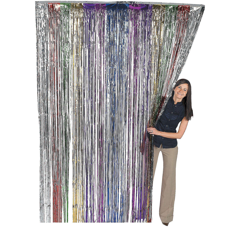 Rainbow Metallic Fringe Door Curtain Curtain Fringe Rainbow