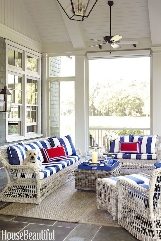 Suzanne Kasler designed this timeless vacation home featured in the July/August issue of House Beautiful . Located in Palmetto Bluff, So...