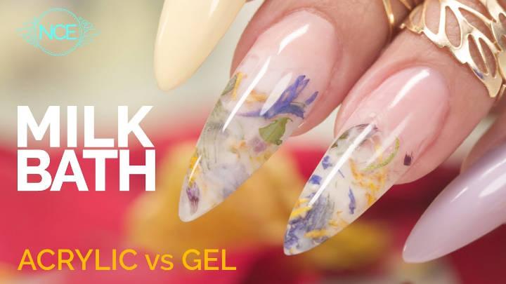 Milk Bath Nails | Acrylic vs Gel #fallmilkbath