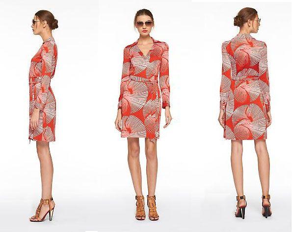 Diane von Furstenberg Jeanne Sundial Vintage Wrap Dress | Casual ...