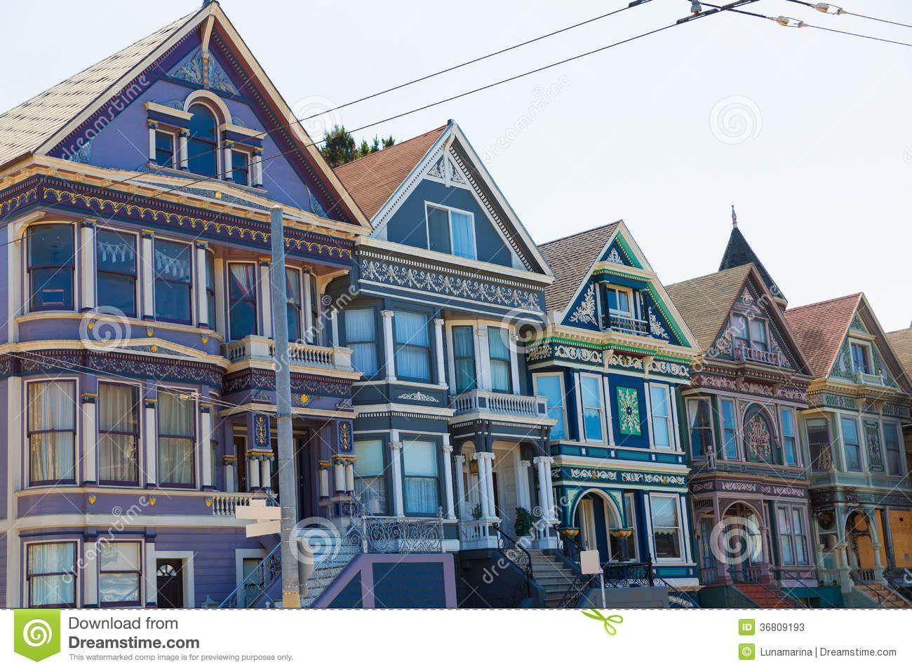 Resultado De Imagen Para San Francisco Victorian Victorian Homes San Francisco California House Styles