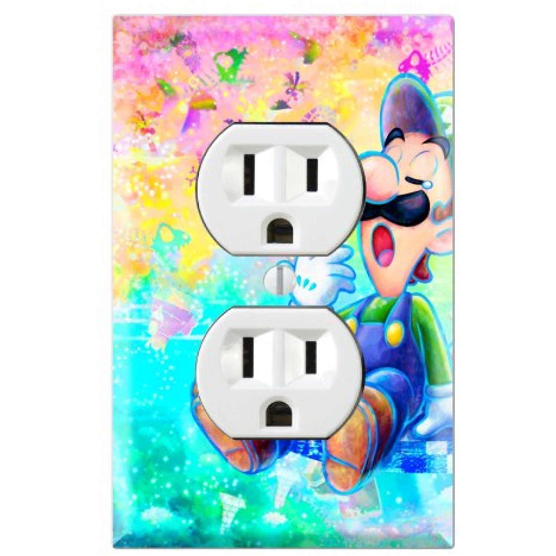 Duplex Wall Outlet Plate Decor Wallplate Super Mario Dream Team