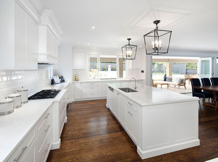 This Newly Built Meadowbank Home In Pymble Sydney Is Perfect For Entertaining The Open Plan Kitche Hamptons Kitchen Large Kitchen Layouts Kitchen Floor Plans