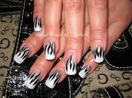 Image result for black gel nail designs
