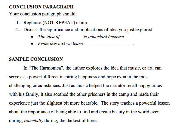Literary Essay Structure Intro Paragraph Relevant Background Info