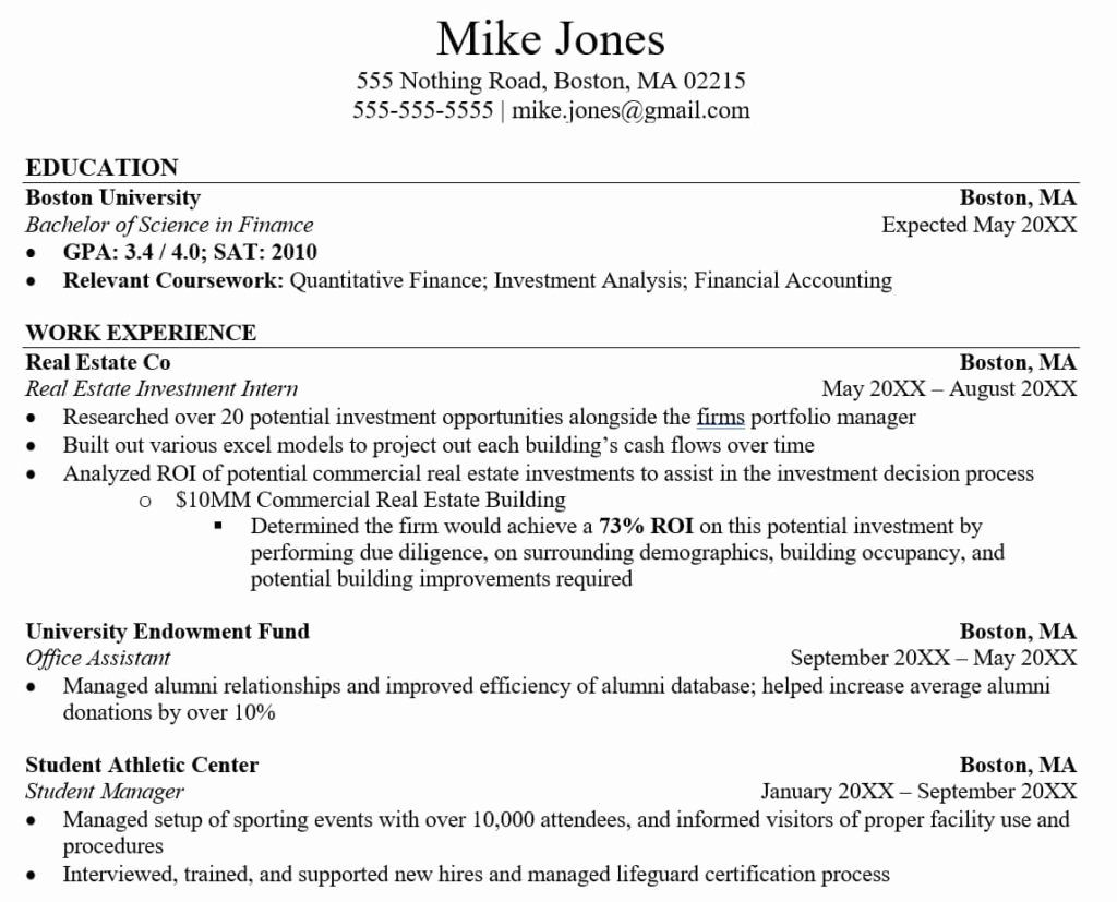 Experienced Investment Banking Resume Elegant 3 Tricks To Hack Your Investment Banking Resume With No