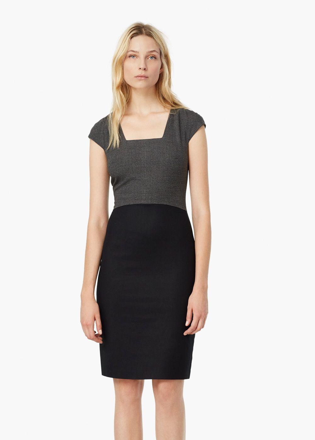 54b206c2df1e Contrast skirt dress - Dresses for Women