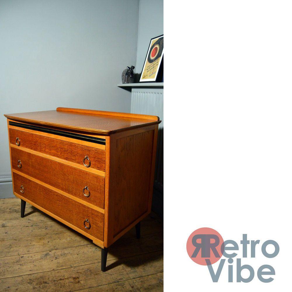 Mid Century/Vintage/Retro 1950s Chest of 3 Drawers | eBay