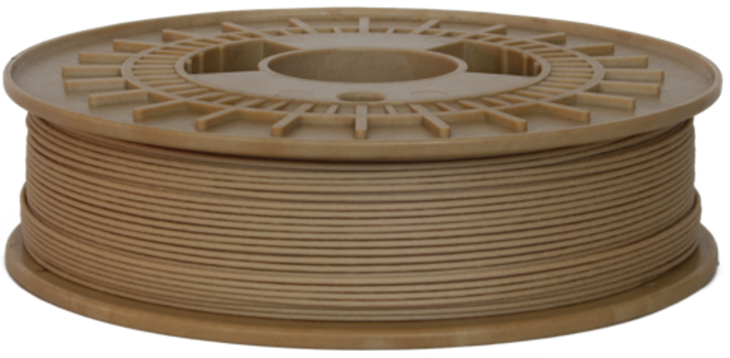 Wood-based 3D printing filament, Timberfill, in Light Wood Tone www.cleanstrands.com
