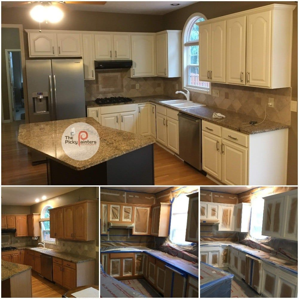 How Much Does Kitchen Cabinet Painting Cost Thepickypainters Clevelandpainters In 2020 Kitchen Cabinets Painting Cabinets Refinishing Cabinets