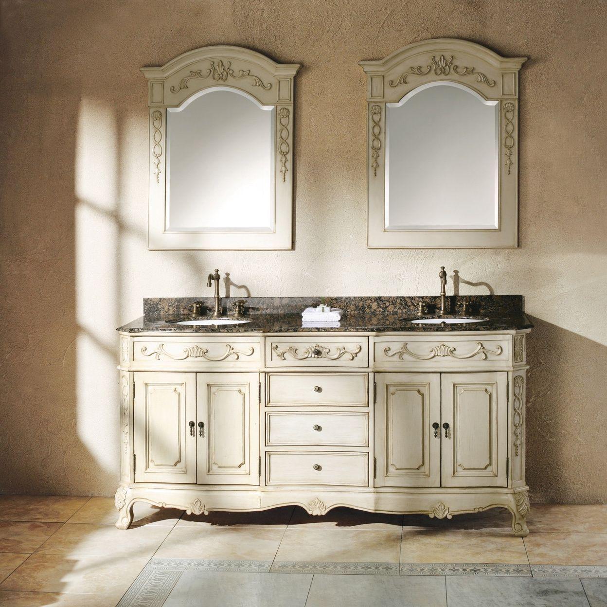 James Martin Furniture Classico Antique White 72 Inch Double