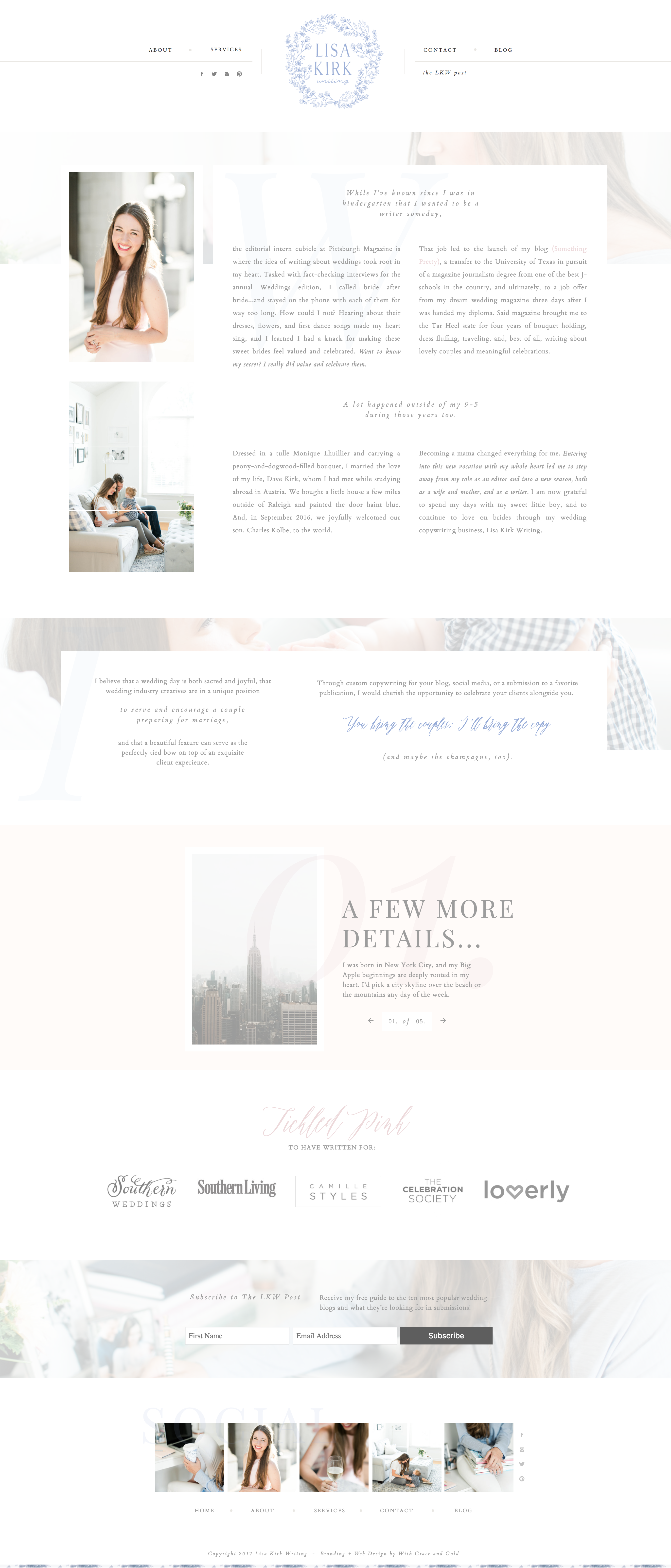 With Grace And Gold Branding Web Design And Education For Creative Women In Business Brand B Web Design Website Design Inspiration Web Design Inspiration
