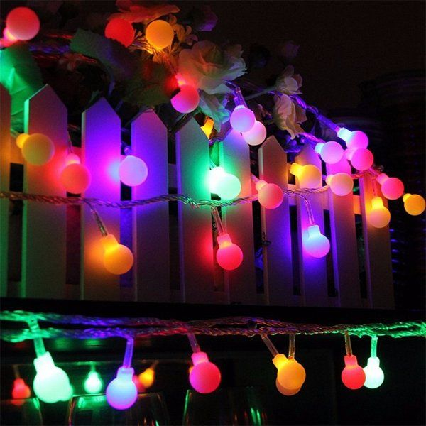 Battery powered 5m 30 led ball fairy string light outdoor christmas battery powered 5m 30 led ball fairy string light outdoor christmas wedding xmas party decor aloadofball Images