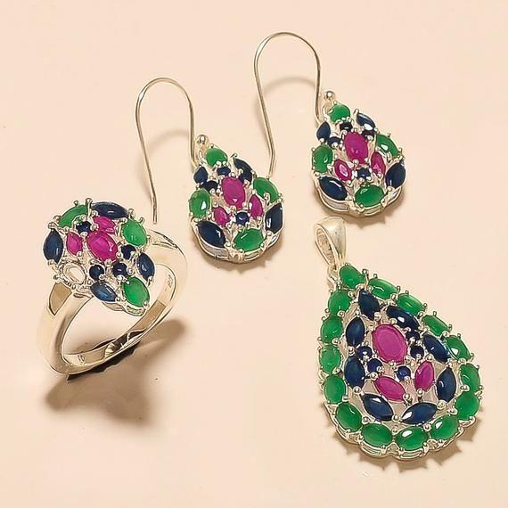 Jewelry & Watches Natural Zambian Emerald Earrings 925 Sterling Silver Dangle Drop Women Jewelry