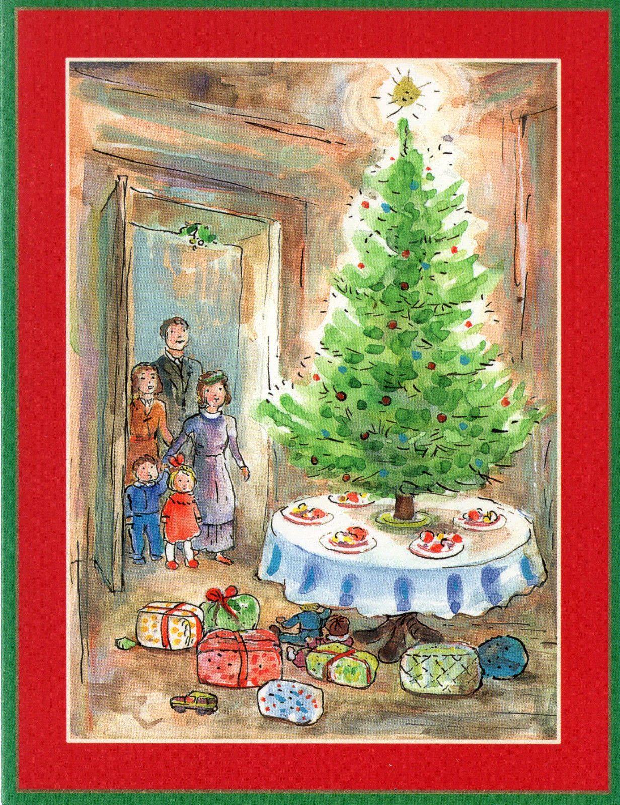 Caspari Christmas Cards.Caspari Christmas Card Family Christmas Tree Ebay Ursula