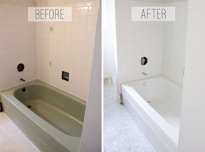 To spray or not to spray a bathtub that is the for Painting bathroom tile before and after