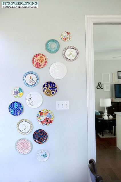 Hanging A Plate Collection Diy Decorating Plate Wall Decor