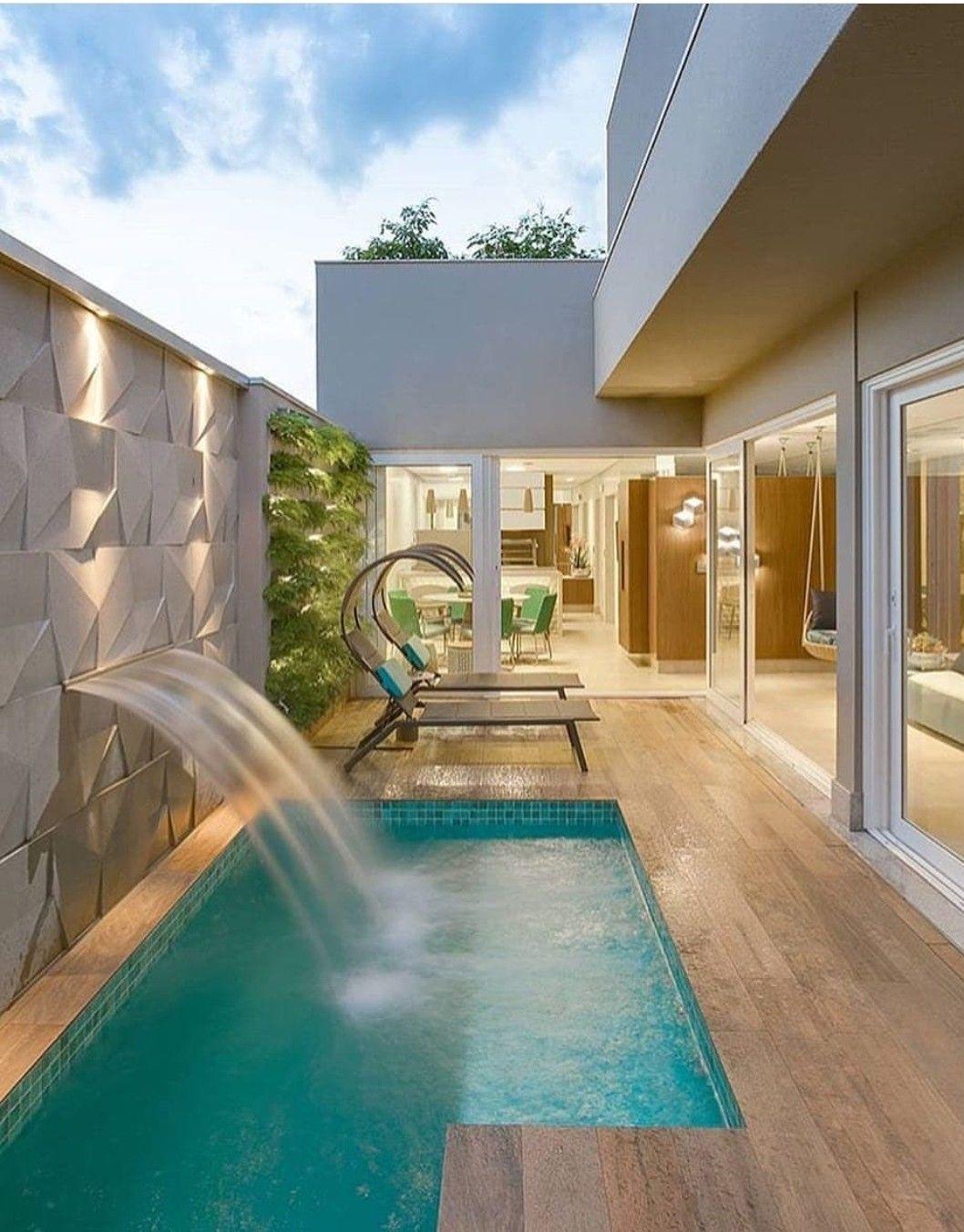حمام سباحه | Pool in 2019 | Pool houses, House, Pool designs