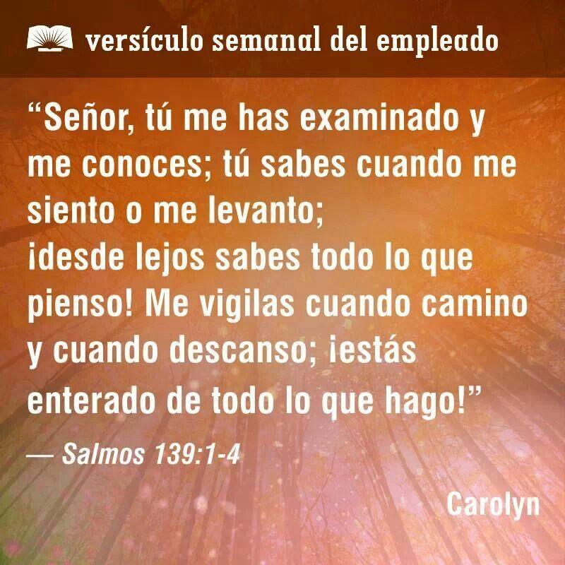 Estos versículos muestran que Dios nos conoce completamente, nos ama ...