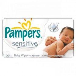 Pack de 192 Lingettes Bébés Pampers Sensitive Baby - 3 Packs de 56 sur Promo Couches