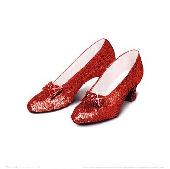 ADULT DOROTHY WIZARD OF OZ RUBY SLIPPERS GLITTER HIGH HEEL PLATFORM SHOES