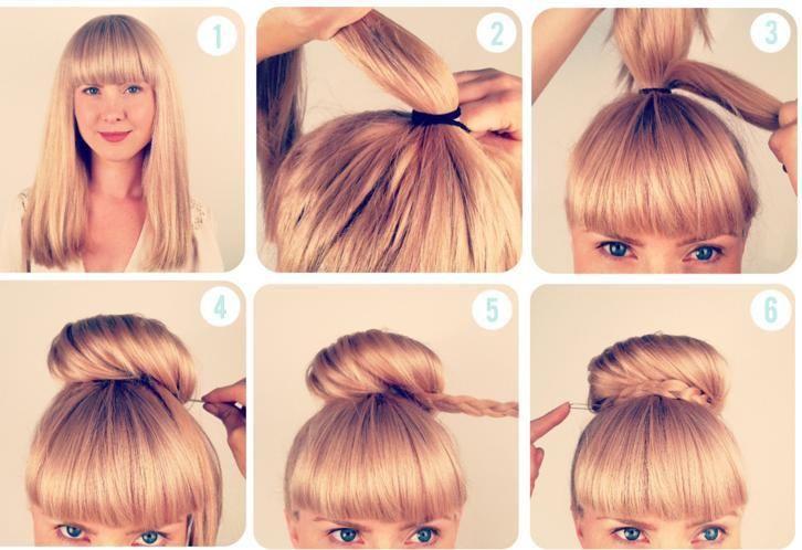Modèle de coiffure simple et rapide facile à faire | coiffure ...