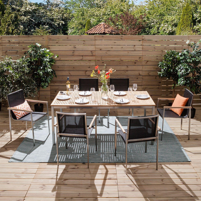 Essgruppe Teakline Exklusiv Xi Garden Furniture Outdoor Decor