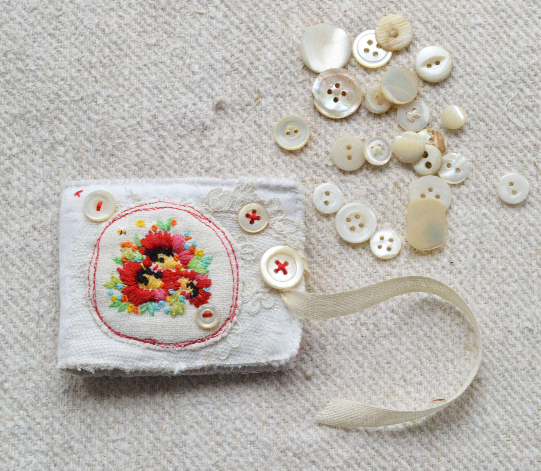 Felt Needle Book Pin Cushion Boro Handmade Needlecase