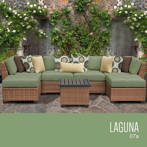 Tkc Laguna 7 Piece Outdoor Wicker Patio Furniture Set