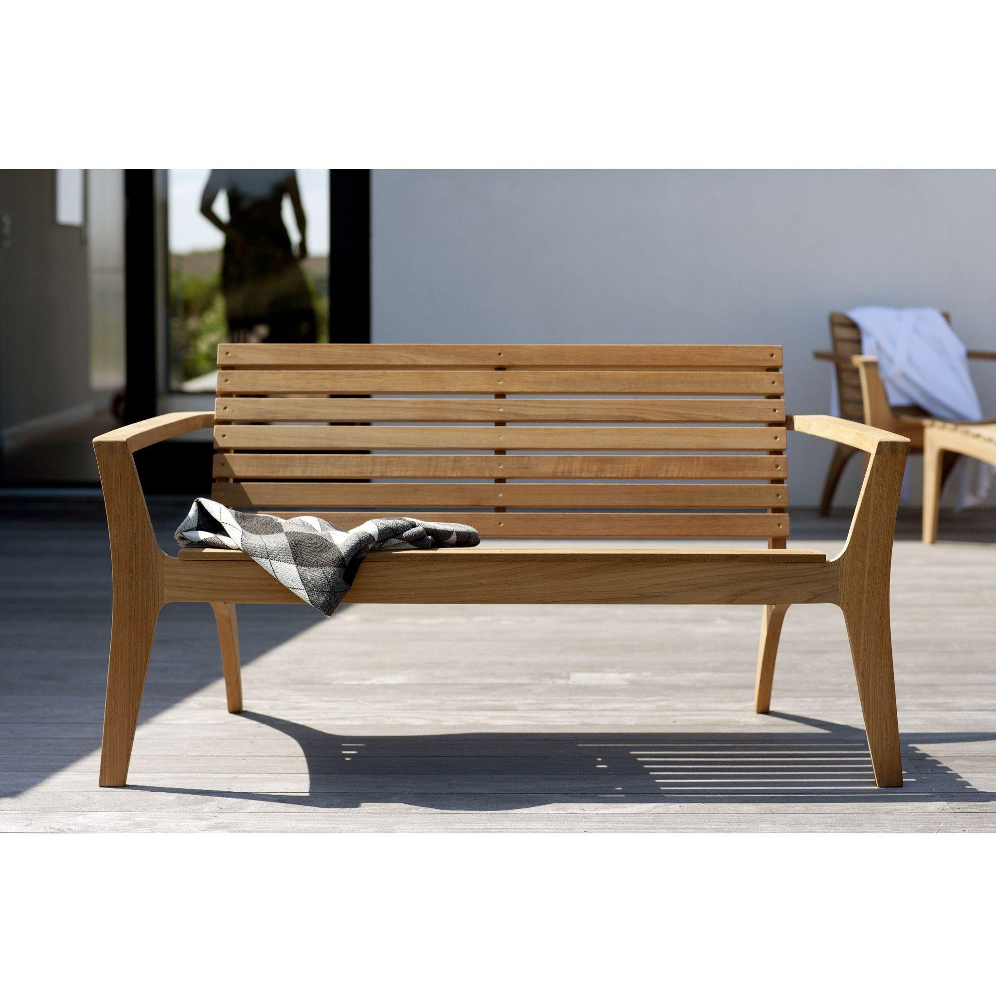 Regatta 2 Seater Lounge Bench In 2020 Teak Garden Bench Modern