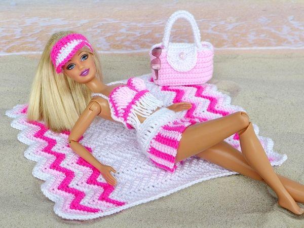 Strandmode für kleine Puppen - 6 Häkelanleitungen | Barbie doll ...
