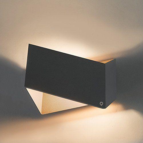 QAZQA Design / Modern / Wandleuchte Fold grau mit kupfer