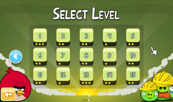 Angry birds menu select   Kid\'s games level select   Pinterest