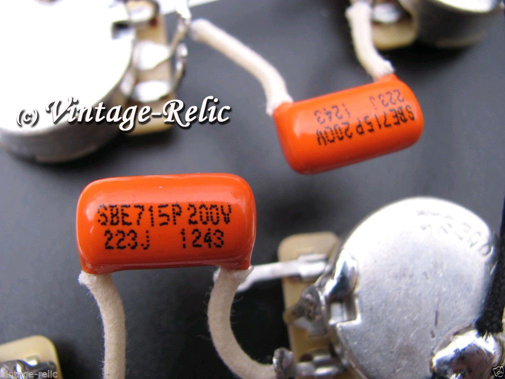 details about wiring kit orange drop 022uf caps cts 550k  guitar wiring kit for gibson les paul