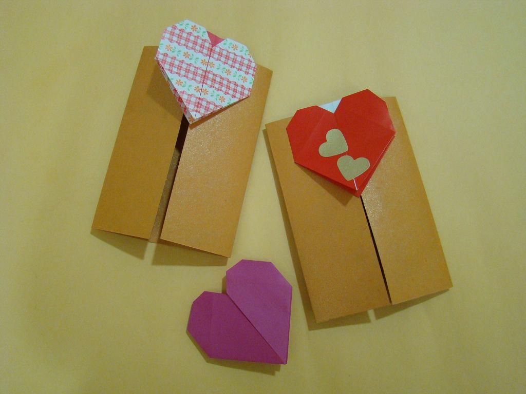 Make valentines day greeting card using simple paper folding make valentines day greeting card using simple paper folding origami craft follow easy steps by kristyandbryce Choice Image