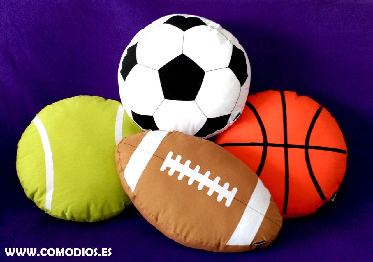 cojines balones futbol y pelotas tenis para regalar  b480133a6bbb9