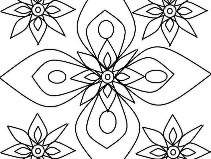 Dibujos geométricos para colorear e imprimir gratis - Flores ...