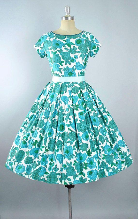 Women/'s Vintage Clothing  1950/'s Cotton Sundress  Vintage Sundress