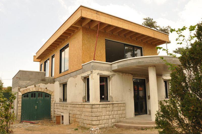 vivanbois maison ossature bois sur l vation d 39 une maison. Black Bedroom Furniture Sets. Home Design Ideas