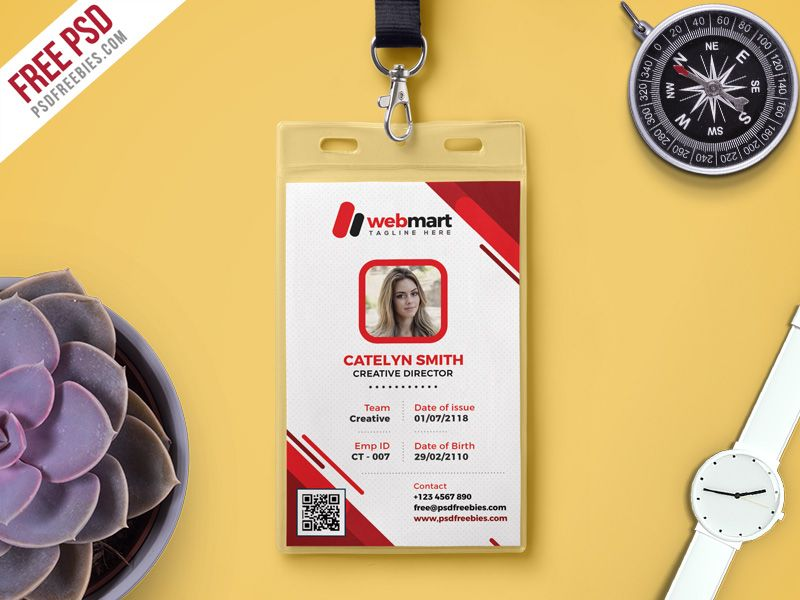 Free Photo Identity Card Psd Template  Psd Templates