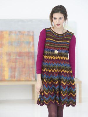 Zig Zag Dress-would be easily done in crochet