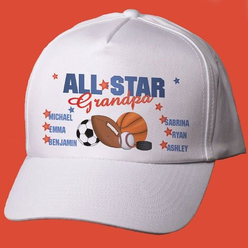 6da723c236797 Personalized All Star Hat for the sports fan. Our Personalized Hat makes a  unique father s day gift idea or Personalized Grandpa Gifts for the sports  fan.