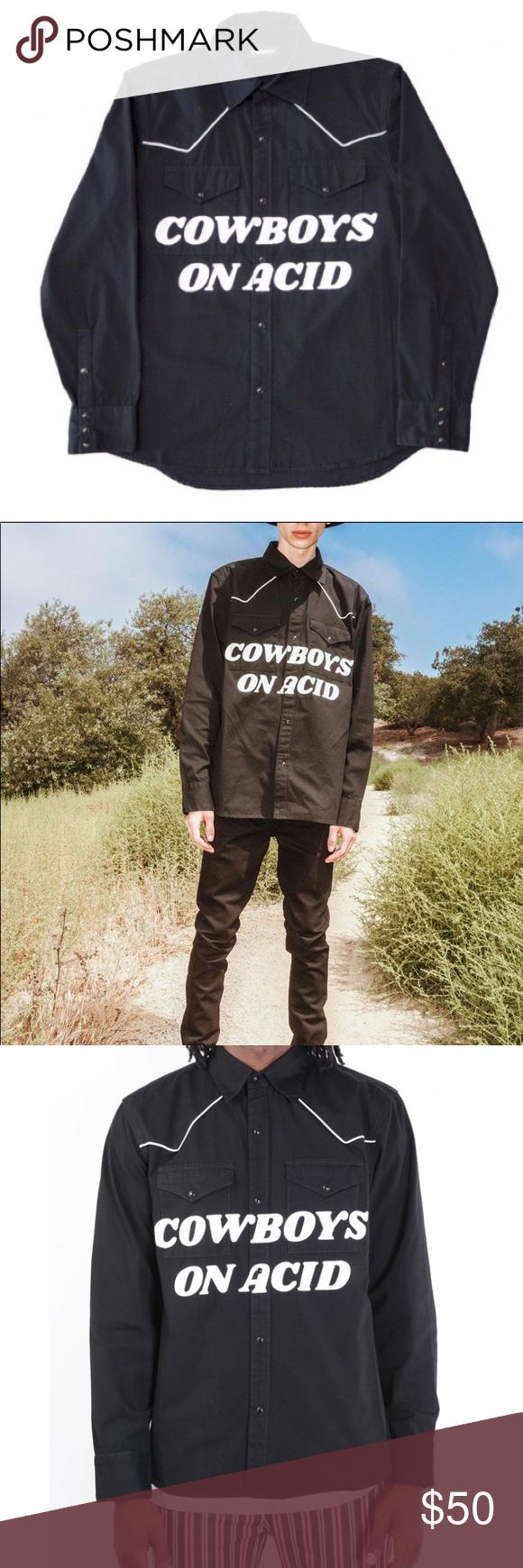 0ed0675f PLEASURES Cowboys on Acid Shirt - Men's Medium PLEASURES Cowboys on Acid  Shirt Men's Size: