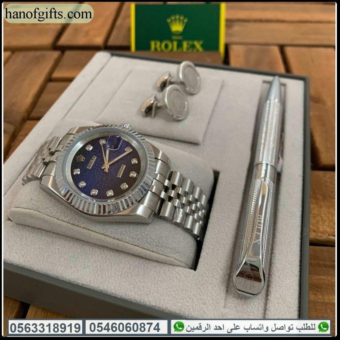 ساعات Rolex رجالية طقم فخم ساعة رولكس مع قلم وكبك رولكس هدايا هنوف Kors Watches Michael Kors Watch Rolex
