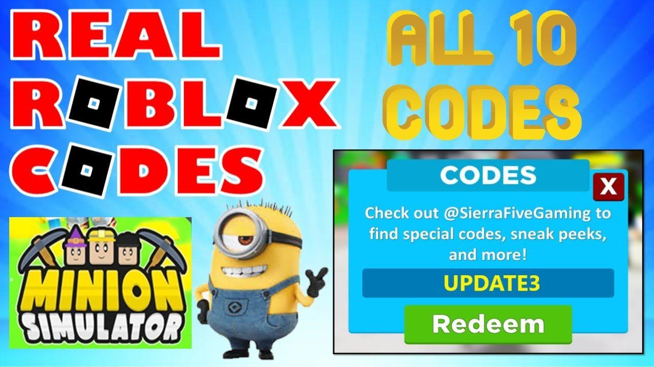Real Roblox Codes May 2020 Minion Simulator Codes In 2020 Roblox Codes Roblox Coding