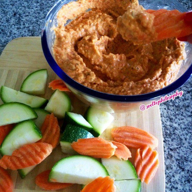 I seriously don't know why I haven't been making my own hummus!  It tastes so much better with less sodium and preservatives!  Not to mention it's so freaking easy!  This week I made spicy roasted red pepper hummus and it is hella delicious!  Perfect for a snack attack, on salads or eggs  But some people will make fun of you!  Oh well...here is the recipe: --- Spicy Roasted Red Pepper Hummus  1 can low sodium chickpeas drained and rinsed  2 large roasted red peppers  1 clove garlic  juice of…