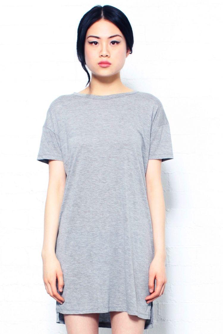 Gray T Shirt Dress   Dresses   Pinterest