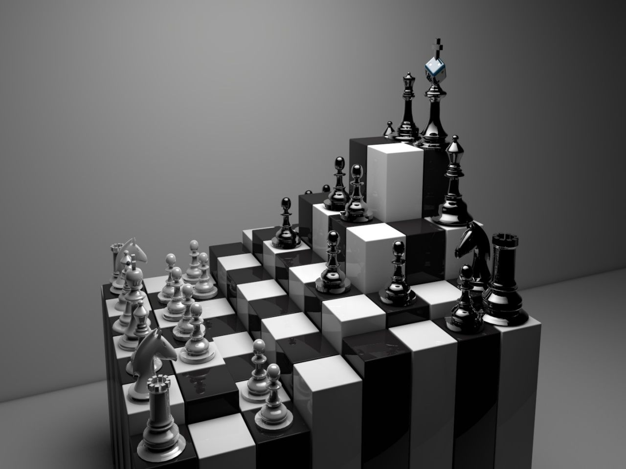 Decorative chess sets in traditional vs unique as game for 3d decoration games