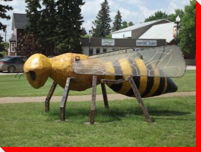 World 39 S Largest Honey Bee Tisdale Saskatchewan BIG Attractions Pin