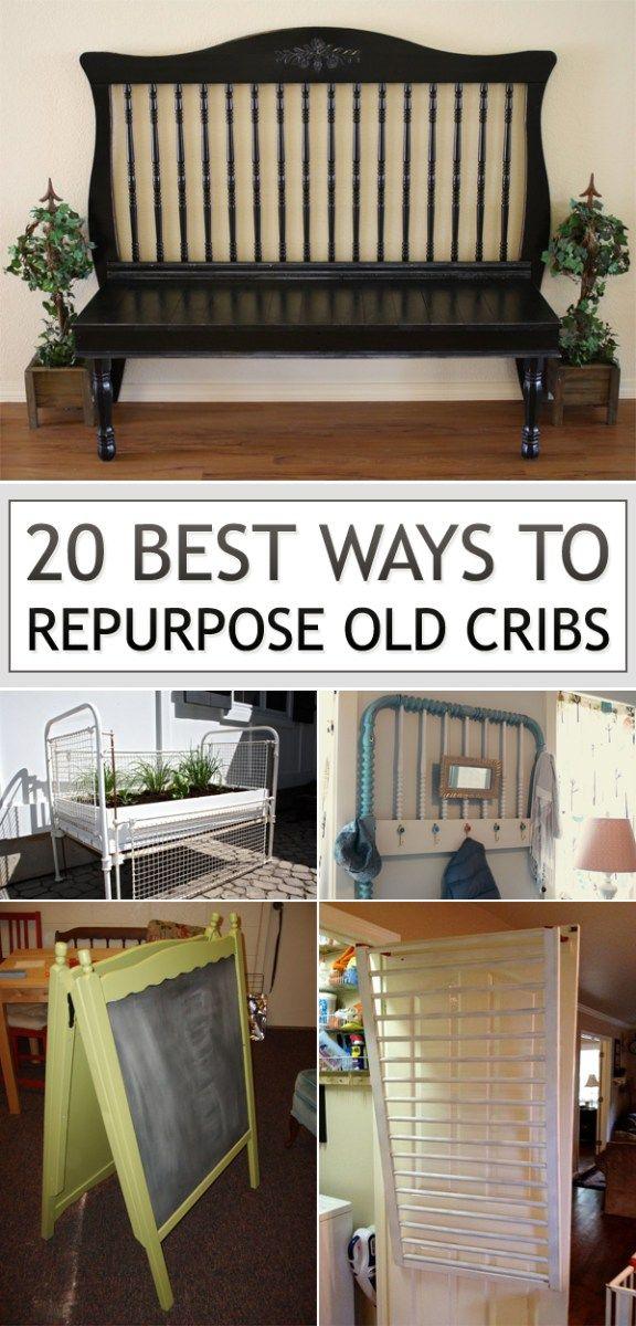 20 ways to repurpose baby cribs | Futura casa, Bancos y Camas